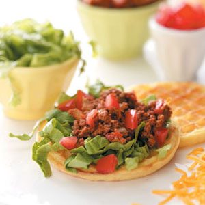 Taco Salad Waffles Recipe