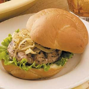 Turkey Burgers with Caramelized Onions Recipe