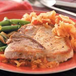 Chops 'n' Kraut Recipe