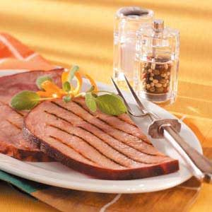 Grilled Marinated Ham Steaks