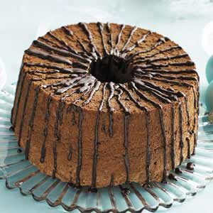 Glazed Chocolate Angel Food Cake Recipe photo by Taste of Home