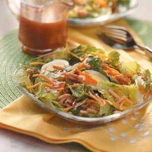 Cheddar-Almond Lettuce Salad Recipe