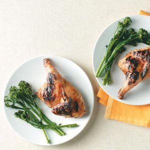 Nectarine Barbecued Cornish Hen Recipe