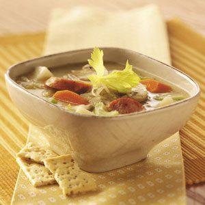 Sauerkraut Sausage Soup Recipe