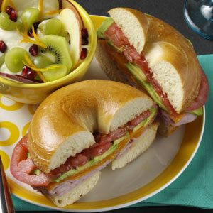 Ham & Cheese Bagels Recipe