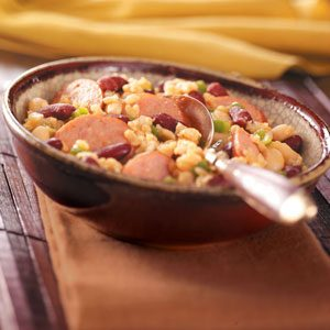 Sausage & Beans with Rice Recipe