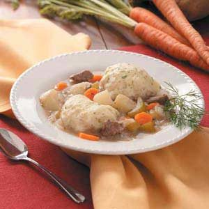 Beef Stew with Dilly Dumplings Recipe