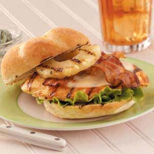 Grilled Pineapple Chicken Sandwiches Recipe