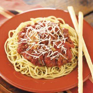 Mushroom-Beef Spaghetti Sauce Recipe