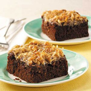 Chocolate Zucchini Cake with Coconut Frosting Recipe