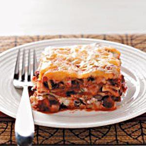 Cheesy Black Bean Lasagna Recipe