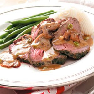 Mushroom-Blue Cheese Tenderloin Recipe