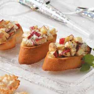 Apple-Goat Cheese Bruschetta Recipe