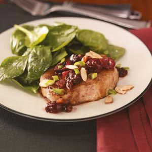 Pork Chops with Chipotle Cherry Glaze Recipe