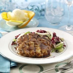 Hoisin Pork Chops with Fennel Slaw Recipe
