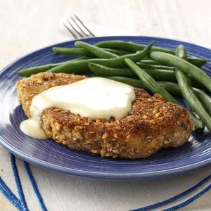 Almond Pork Chops with Honey Mustard