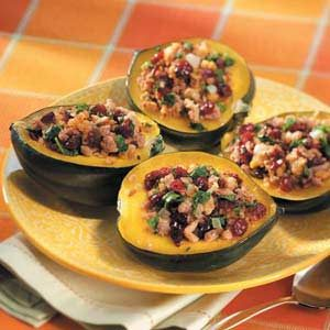 Sausage-Stuffed Acorn Squash Recipe