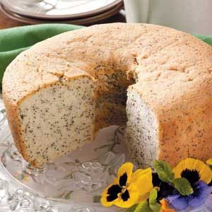 Poppy Seed Chiffon Bundt Cake Recipe
