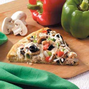Veggie Turkey Pizza Recipe
