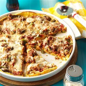 Crazy-Crust Sausage Pizza Recipe