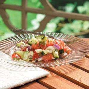 Herbed Tomato Cucumber Salad Recipe