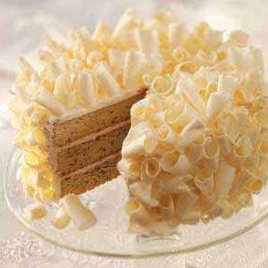 White Chocolate Macadamia Nut Layer Cake