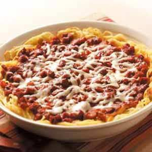Sausage Spaghetti Pie Recipe
