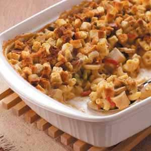 Baked Chicken Macaroni Casserole Recipe
