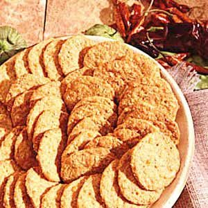 Cheese Blue Cornmeal Crackers Recipe