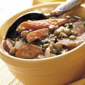 Healthy Sausage Lentil Soup Recipe