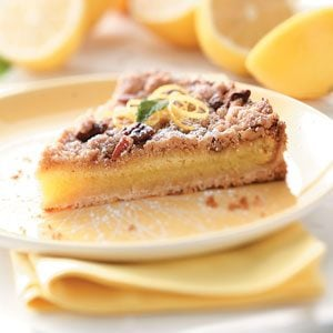 Streusel-Topped Lemon Tart Recipe