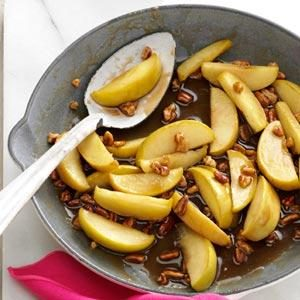 Caramel-Pecan Apple Slices Recipe