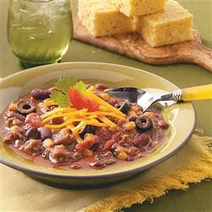 Three-Bean Taco Chili Recipe