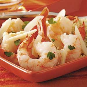 Shrimp Scampi with Lemon Couscous Recipe
