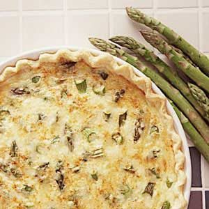 Wild Asparagus Quiche Recipe