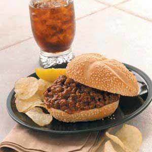 Sensational Sloppy Joes Recipe