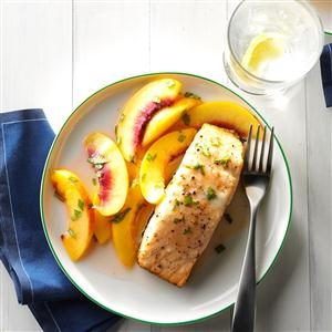 Grilled Salmon with Nectarines Recipe