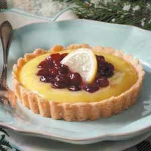 Cranberry-Topped Lemon Tarts Recipe