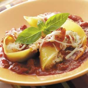 Veggie-Cheese Stuffed Shells Recipe