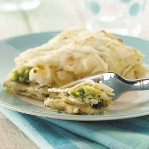 Creamy Broccoli Cauliflower Lasagna Recipe