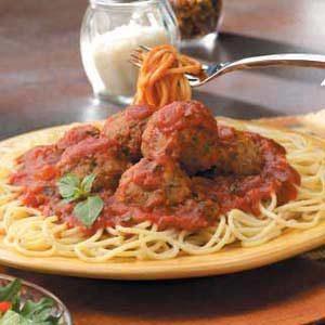 Meatballs with Spaghetti Sauce Recipe