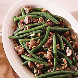 Green Beans with Mushrooms Recipe