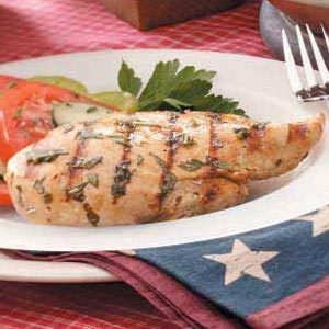 Grilled Lemon-Basil Chicken Recipe