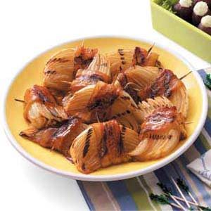 Grilled Bacon-Onion Appetizers Recipe