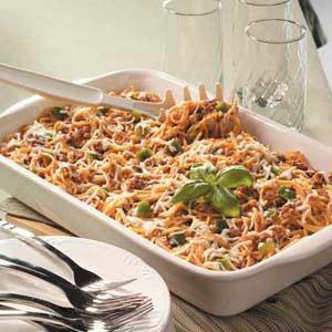 Baked Spaghetti Potluck Casserole Recipe