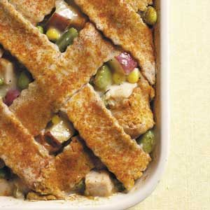 Lattice-Topped Turkey Casserole Recipe