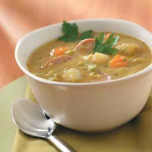Kielbasa Split Pea Soup Recipe