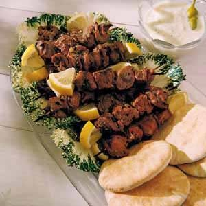 Barbecued Lamb Kabobs