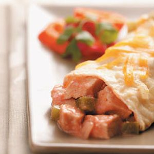Green Pepper and Onion Turkey Enchiladas