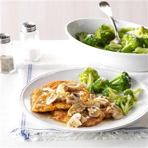 Garlic-Mushroom Turkey Slices Recipe
